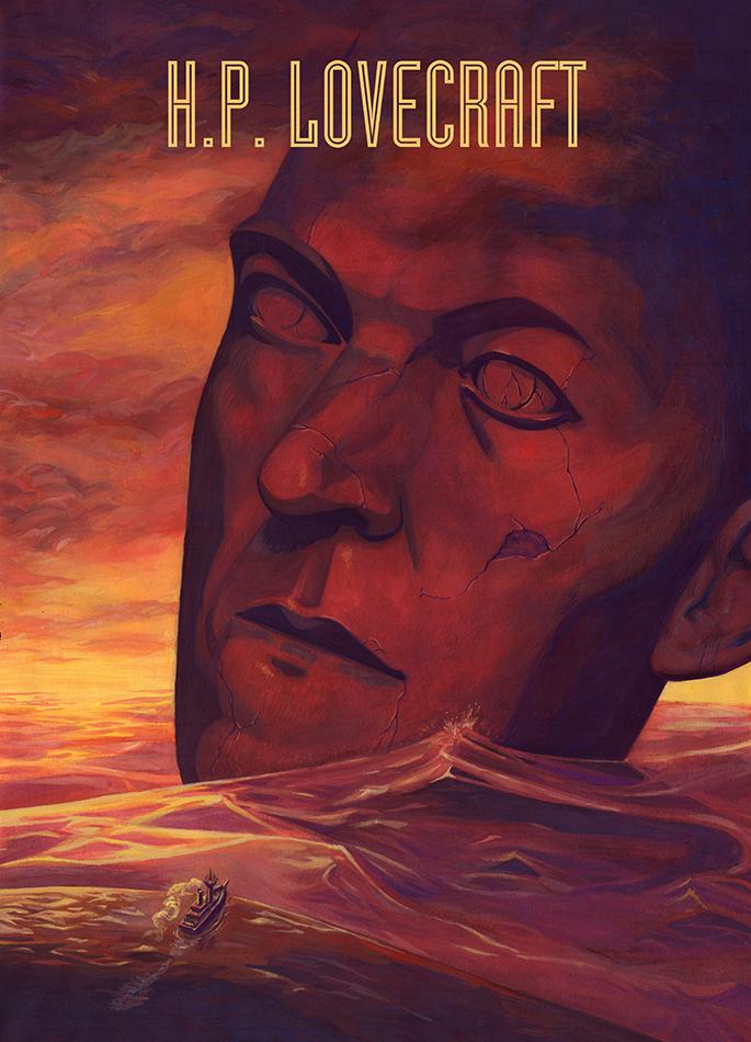 portrait affiche lovecraft providence cthulhu necronomicon josselin limon duparcmeur