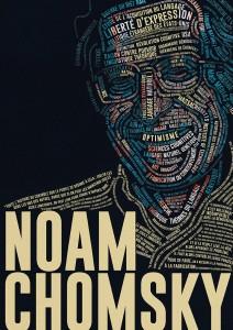 portrait affiche noam chomsky linguiste josselin limon duparcmeur