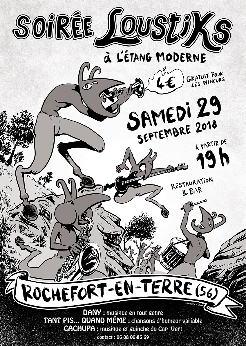 rochefort en terre concert festival loustiks affiche morbihan bretagne josselin limon duparcmeur