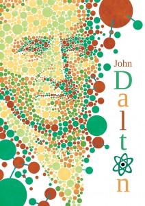 portrait affiche john dalton daltonisme atome josselin limon duparcmeur